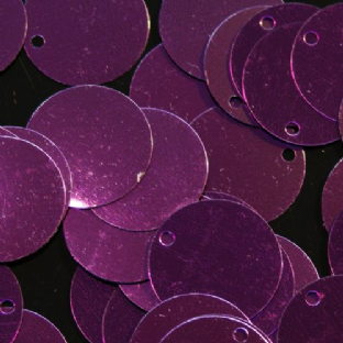 Bulk Bag 1000 x 20mm Metallic Grape Purple Flat Round Sequins.